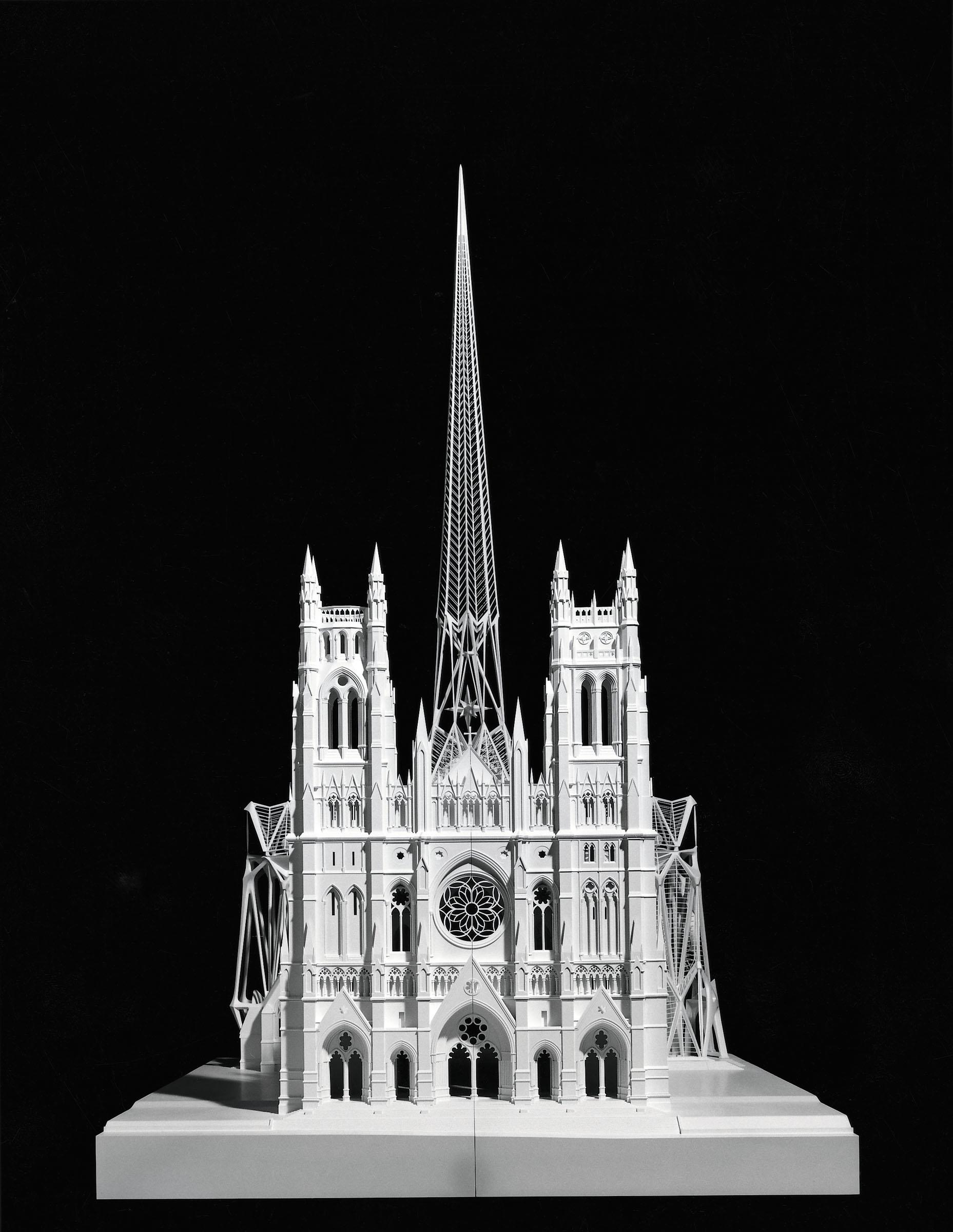 Cathedral St. John the Divine, New York, 1991 Modello, visione frontale Legno, plexiglas, polystyrene, metallo, 214/120/220 cm Proprietà Studio Calatrava © Santiago Calatrava