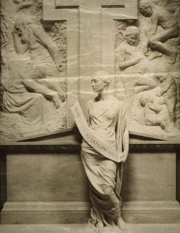 Giorgio Kienerk (1869-1948), Monumento Comi, 1898. Certosa di Bologna, Sala san Paolo