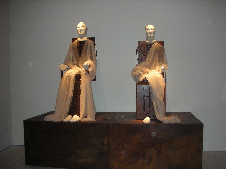 Gli Acroliti di Demetra e Kore, marmo pario, 530/520. a.C, Museo archeologico di Aidone, (En), Italia.