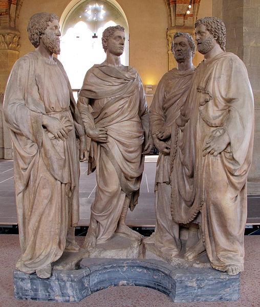 Nanni di Banco, Quattro Santi Coronati, 1409-1417, Firenze, Museo di Orsanmichele
