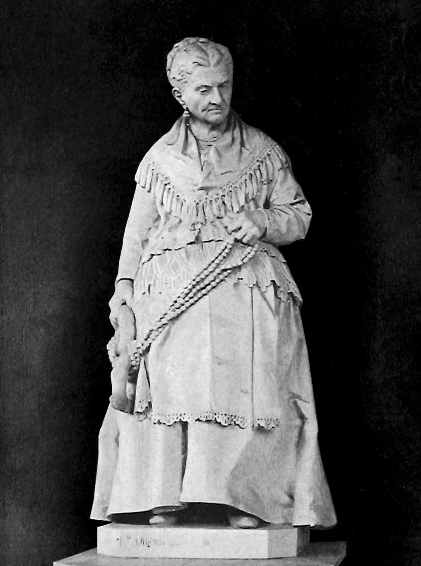 Lorenzo Orengo, Monumento di Caterina Campodonico, 1881, marmo di Carrara, Genova, Cimitero Staglieno, porticato inferiore a ponente