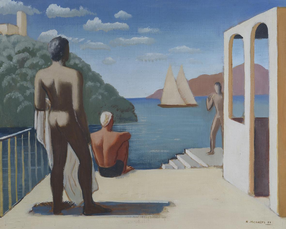 Ruggero Alfredo Michahelles: Île de Cythère, 1933, Paris, n. 43, olio su tavola, cm 50x40