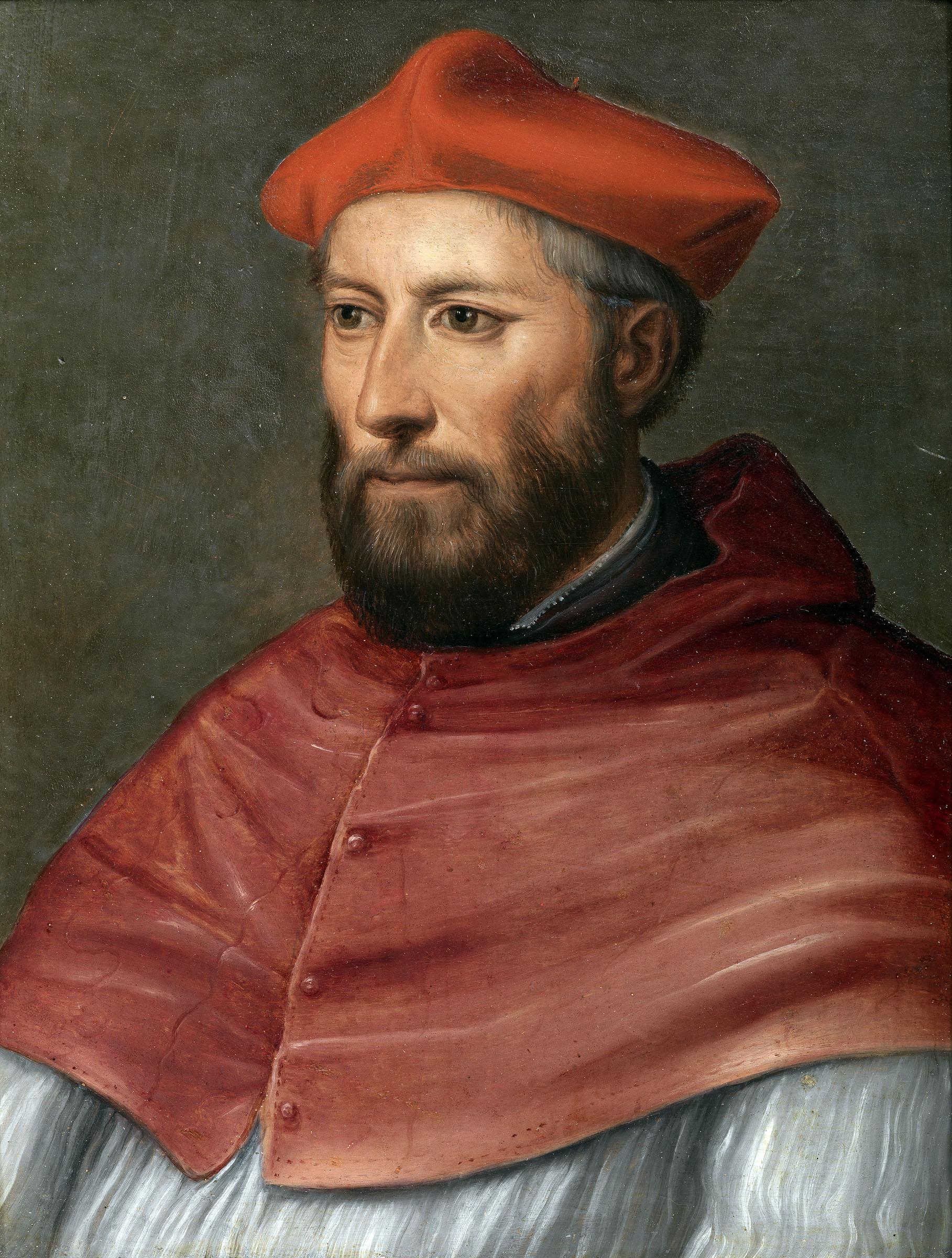Peruzzi Baldassarre (Ancaiano 1481 – Roma 1536) Ritratto del card. Pietro Accolti Olio su tavola, 26 x 19 cm Galleria degli Uffizi, Inv. 1890 n. 759