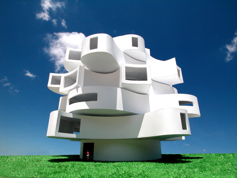 Michael Jantzen, Wind shaped pavilion