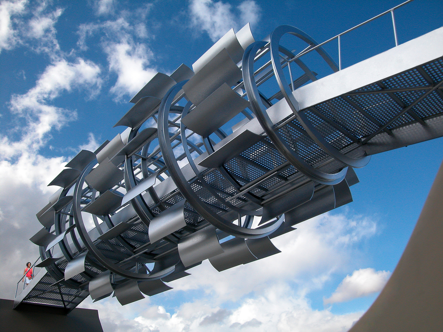 Michael Jantzen, Wind turbine footbridge