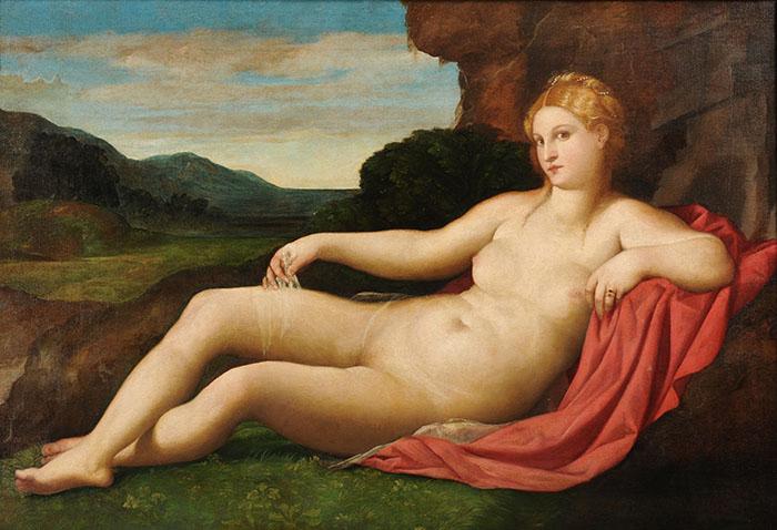 Jacopo Palma il Vecchio, Venere, olio su tela, 1528, Collezione Privata