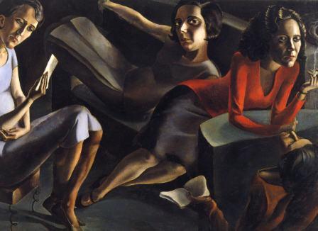 A.S.TORROELLA, Salotto, 1929, olio su tela, cm 130 x 193, Madrid, Museo National Centro de Arte Reina Sofìa