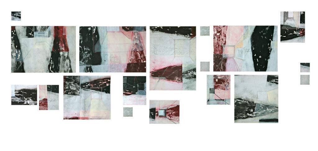 Camilla Rossi, 2012, t.-m.-su-carta-intelata, composizione.libera-e-variabile-elementi,-cm-50x70-cm-50x50-cm20x30-cm-10x10-2012.