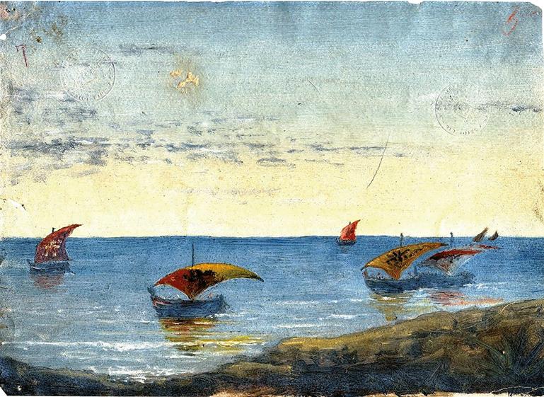 Una marina dipinta da Gabriele D'Annunzio