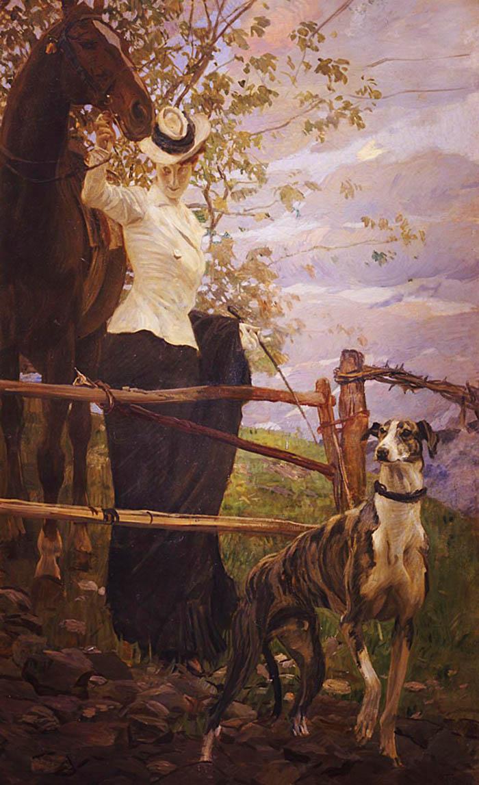 Ettore Tito, L'amazzone, 1906. Genova, Civiche Raccolte Frugone