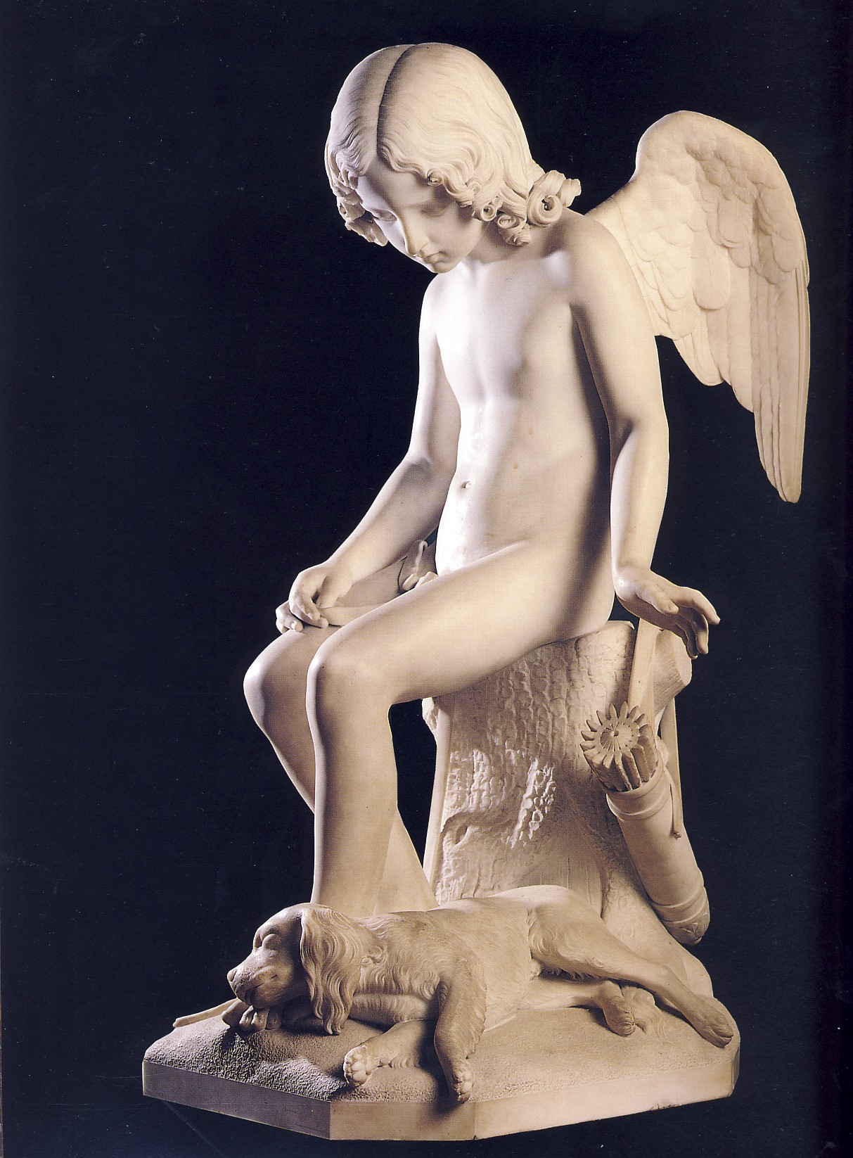 P.FRECCIA, Amore e Fedeltà, 1840, marmo, Firenze, Galleria di arte moderna di Palazzo Pitti
