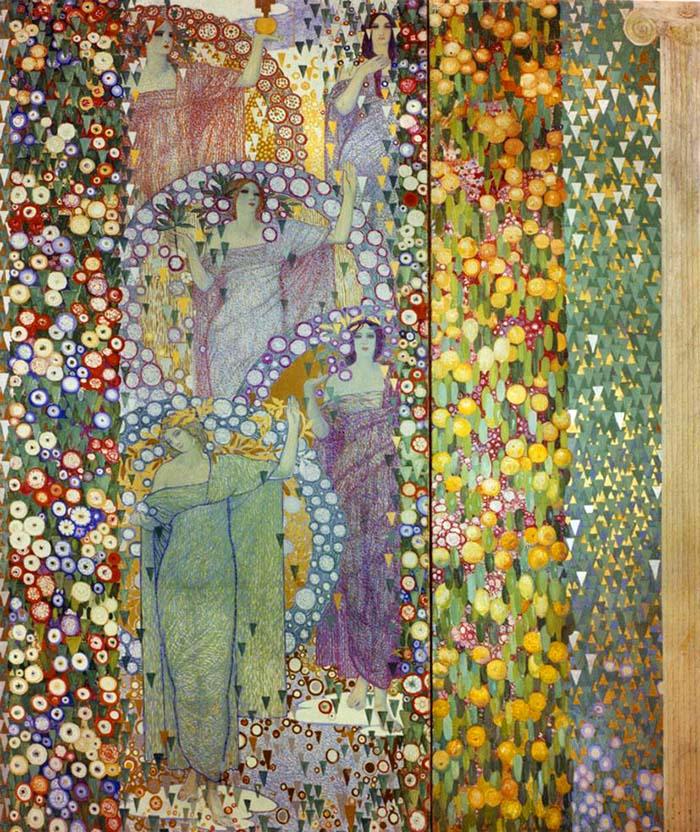 Galileo Chini, La primavera classica, 1914. Montecatini, Accademia d'Arte Dino Scalabrino