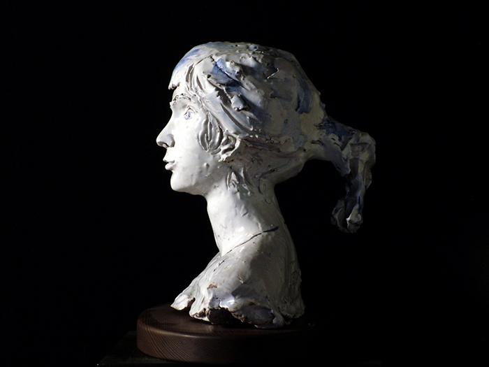 Lucio Fontana Ritratto di fanciulla1952-53 ceramica 42x49x33