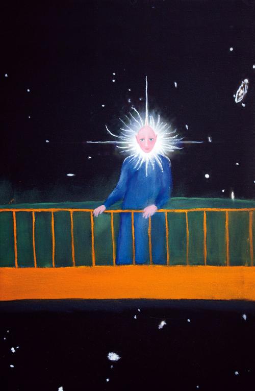 Franco Battiato, Senza titolo, 2012-2013 Opera realizzata perla favola  di L. Mantovani 'Stellastellina e l'anemone blu', 2013