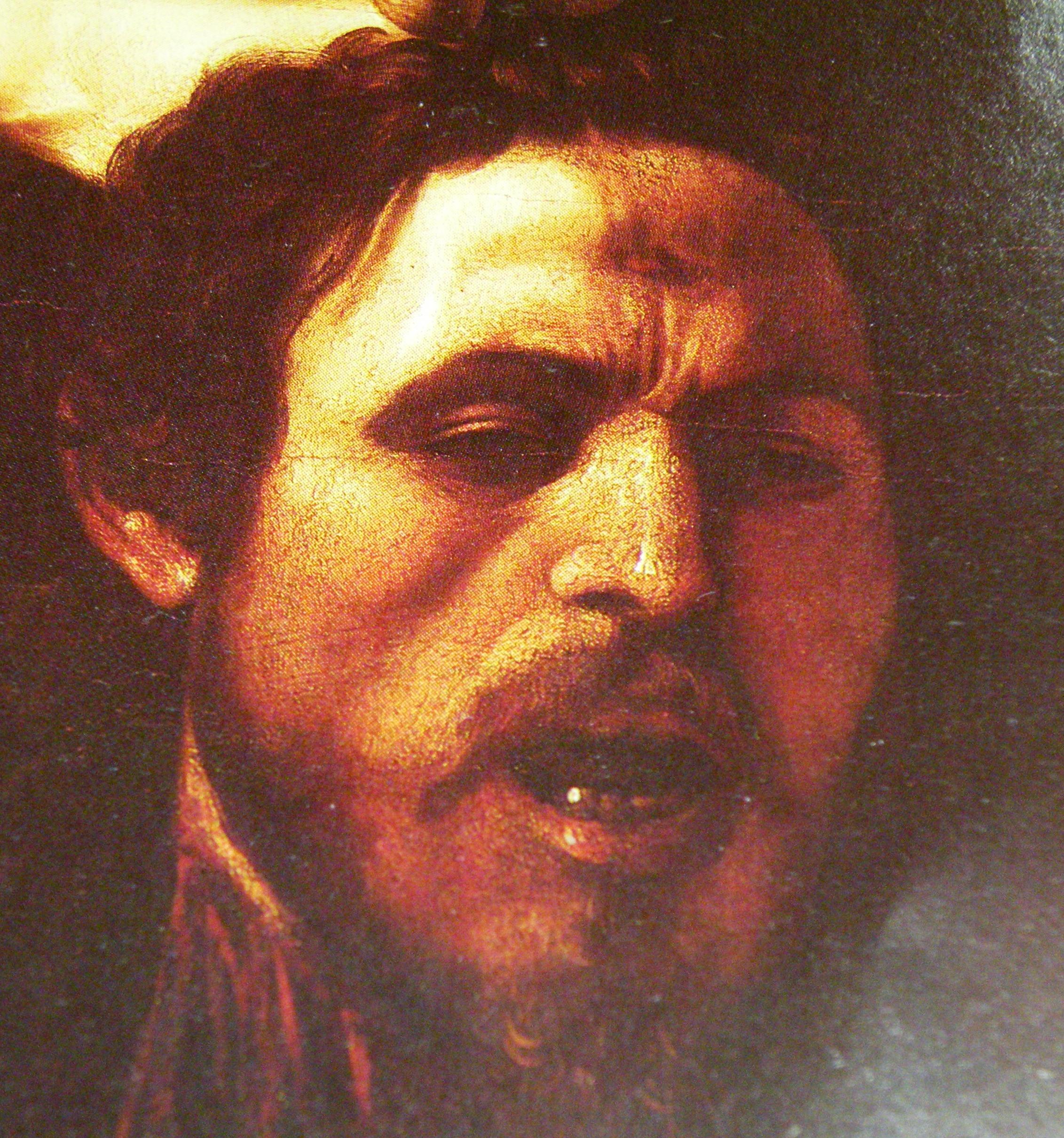 Caravaggio, Davide e Golia, presunto autoritratto di Merisi
