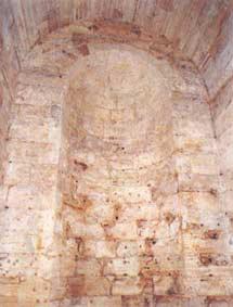 Castel Sant'Angelo, Atrio romano, nicchia per la statua di Adriano