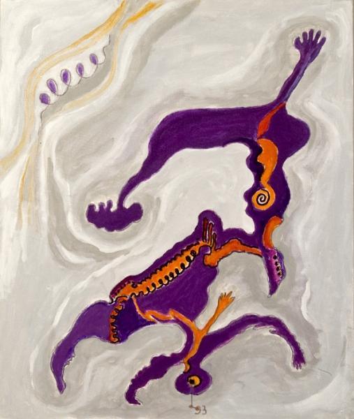 Capovolgimento, 1993, acrilico su cartone telato, 60 x 50 cm