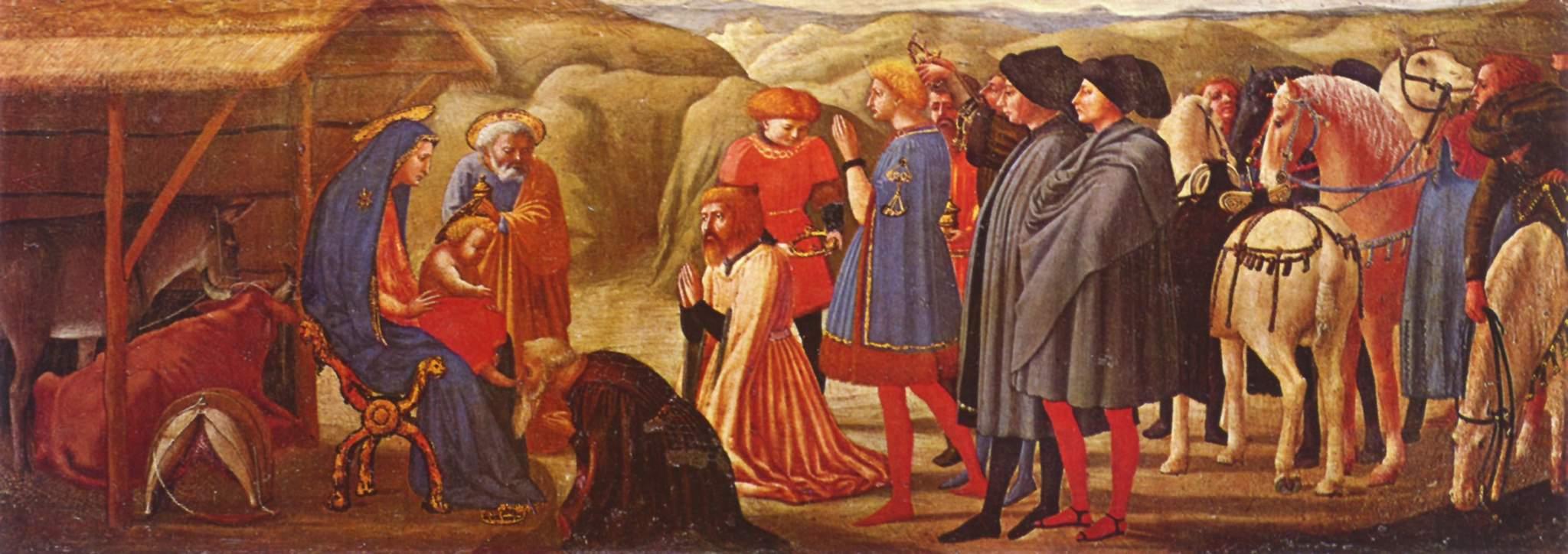 La Adorazione dei Magi di Masaccio è una tempera su tavola (21x61 cm) proveniente dallo smembrato polittico di Pisa ed oggi conservato nei Musei statali di Berlino. Risale al 1426.