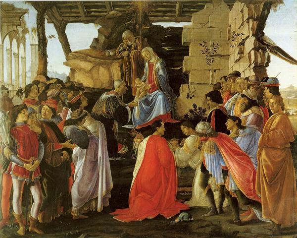 L'Adorazione dei Magi è un dipinto a tempera su tavola (111x134 cm) di Sandro Botticelli, databile al 1475 circa e conservato nella Galleria degli Uffizi a Firenze.