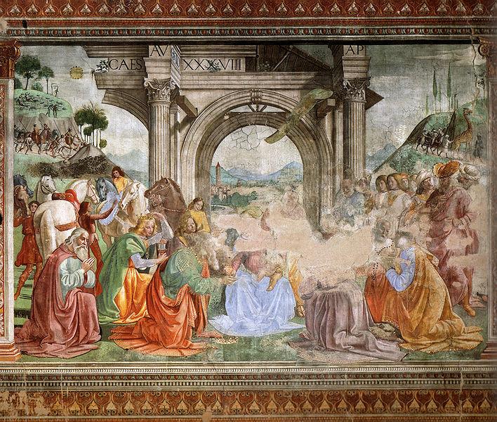L' Adorazione dei pastori del Ghirlandaio è nella cappella Tornabuoni della basilica di Santa Maria Novella a Firenze. Contiene uno dei più vasti cicli di affreschi di tutta la città, realizzato da Domenico Ghirlandaio e bottega dal 1485 al 1490.