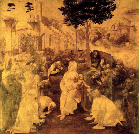 L'Adorazione dei Magi è un dipinto a olio su tavola e tempera grassa (246x243 cm) di Leonardo da Vinci, realizzato tra il 1481 e il 1482. Viene conservato nella Galleria degli Uffizi a Firenze.