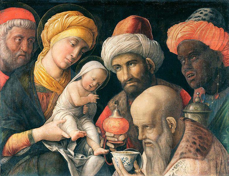 L'Adorazione dei Magi è un dipinto tempera a colla e oro su tavola (54,6x70,7 cm) di Andrea Mantegna, databile al 1497-1500 circa e conservato al Getty Museum di Los Angeles.