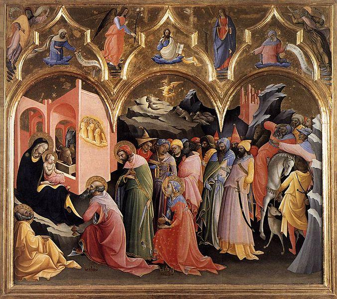 L'Adorazione dei Magi è un dipinto di Lorenzo Monaco conservato agli Uffizi di Firenze. Si tratta di una tempera su tavola (115×183 cm), dipinta secondo lo stile gotico internazionale. È datata al 1420-1422.
