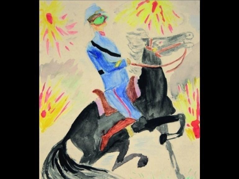Un'opera figurativa del poeta Apollinaire