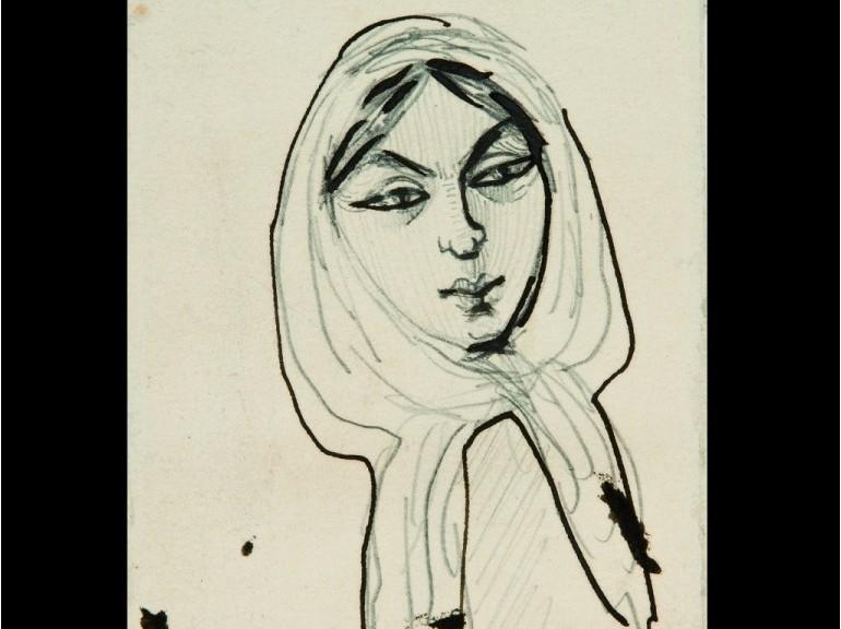 Disegno di Charles Baudelaire