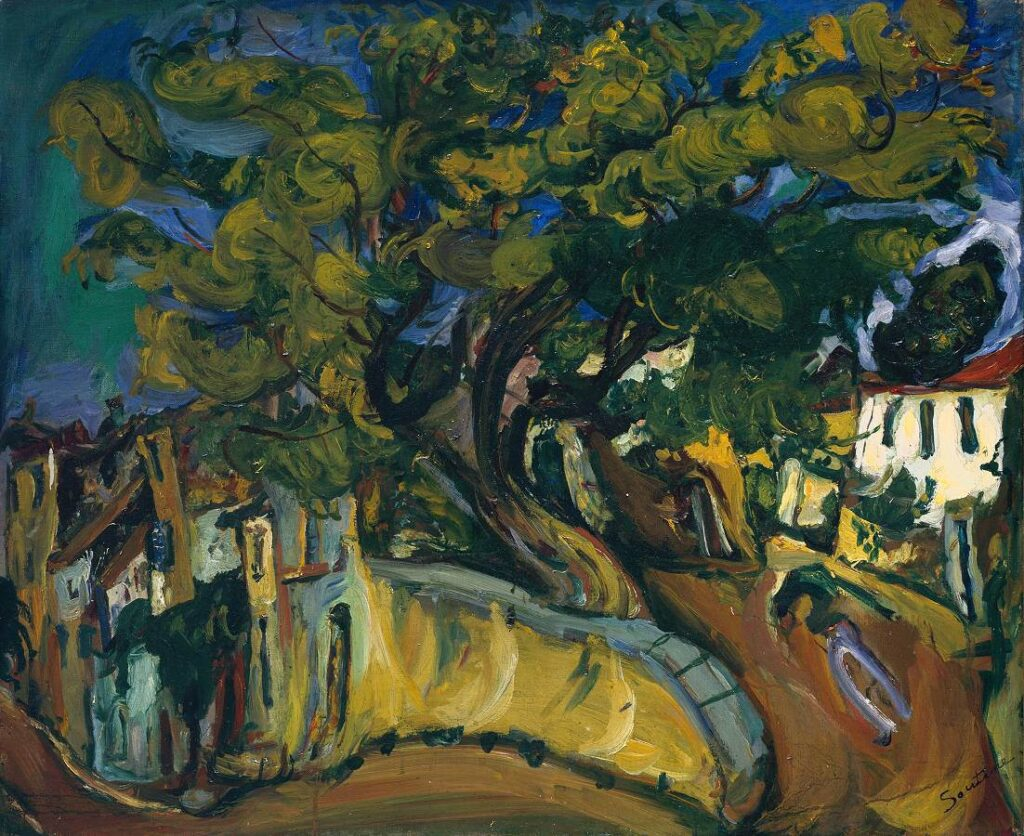 Cagnes Landscape with Tree circa 1925-6 by Chaïm Soutine 1893-1943