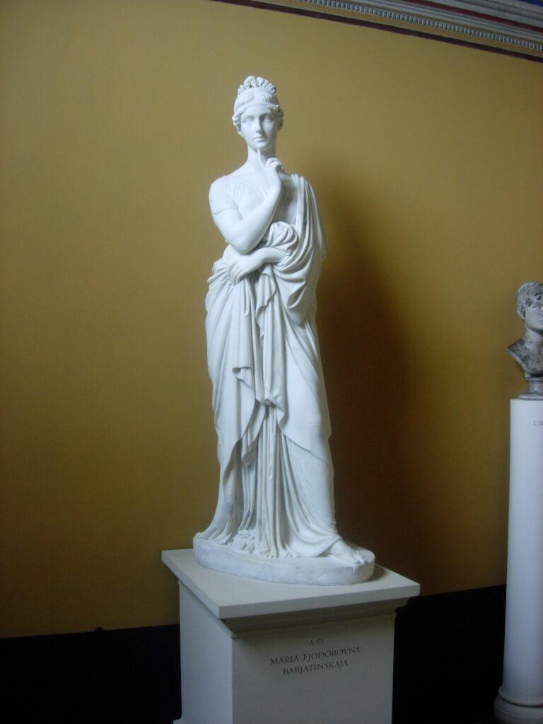 B. THORVALDSEN, Maria Fjodorova Barjatinskaja, 1819-25, marmo di Carrara, h. 181, Copenaghen, Museo Thorvaldsen, piano terra, stanza 11
