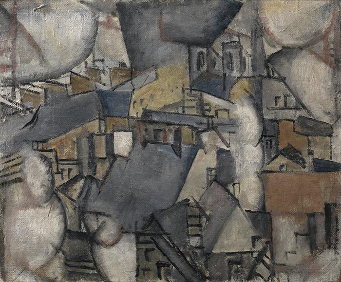 Fernand Léger Smoke over Rooftops, 1911 olio su tela cm 47,50 x 54,90 Collezione privata © Fernand Léger by SIAE 2014