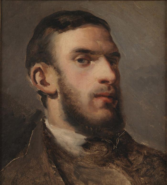 Camille Pissarro Autoportrait, 1852- 1854 olio su tela 31 x 28,5 cm National Gallery of Denmark, Copenaghen © SMK Photo