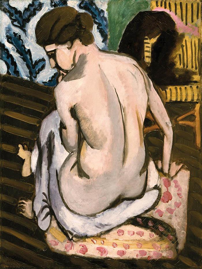 Henri Matisse: Nudo seduto di spalle, 1917 Olio su tela, cm 62,2, x 47,1 Philadelphia Museum of Art. © Succession H. Matisse, by SIAE 2013