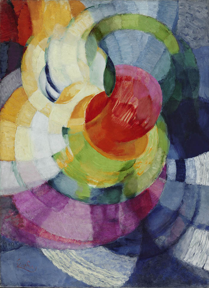 Frank (Frantisek) Kupka Disks of Newton (Study for Fugue in Two Colors, 1912 ) olio su tela cm 100,33 x 73,66 Philadelphia Museum of Art, The Louise and Walter Arensberg Collection, 1950 © Frank Kupka by SIAE 2014
