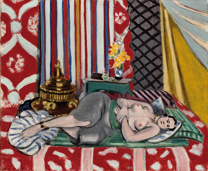 Henri Matisse: Odalisca con i pantaloni grigi, 1926-27 Olio su tela, cm 54 x 65 Parigi, Musée de l'Orangerie. © Succession H. Matisse, by SIAE 2013