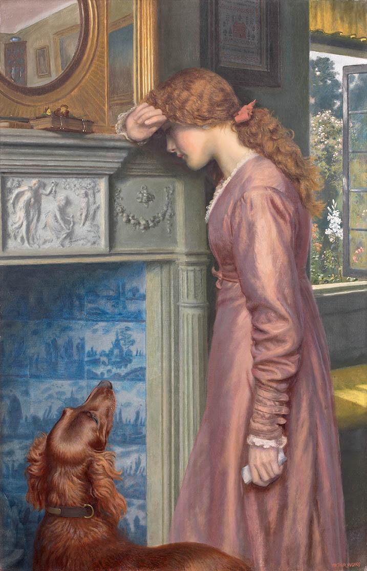 Arthur Hughes Un nuage passe vers 1895 huile sur toile 30026 98,8 x 63,7 cm 115,5 x 80 x 6,6 cm Messico, Collezione Pérez Simón © Studio Sebert Photographes