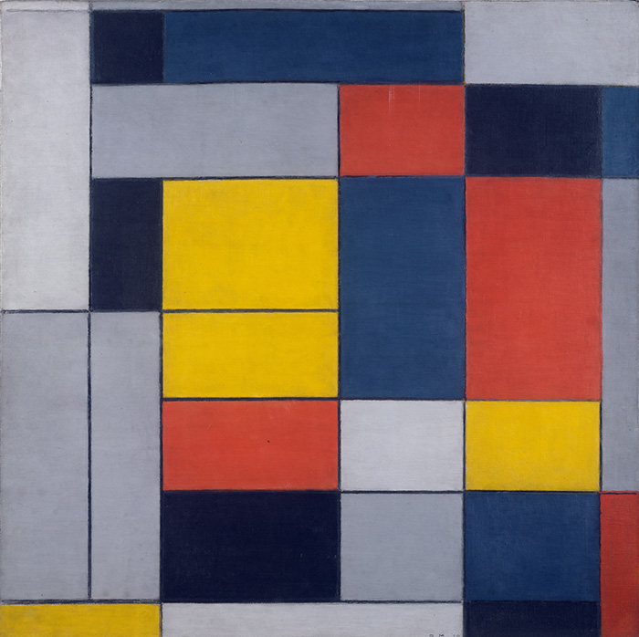 Piet Mondrian No. VI / Composition No. II, 1920 olio su tela cm 99,50 x 100,00 Tate, Liverpool © Tate, London 2013 © 2013 o 2014 Mondrian / Holtzman Trust c/o HCR International Washington, D.C.