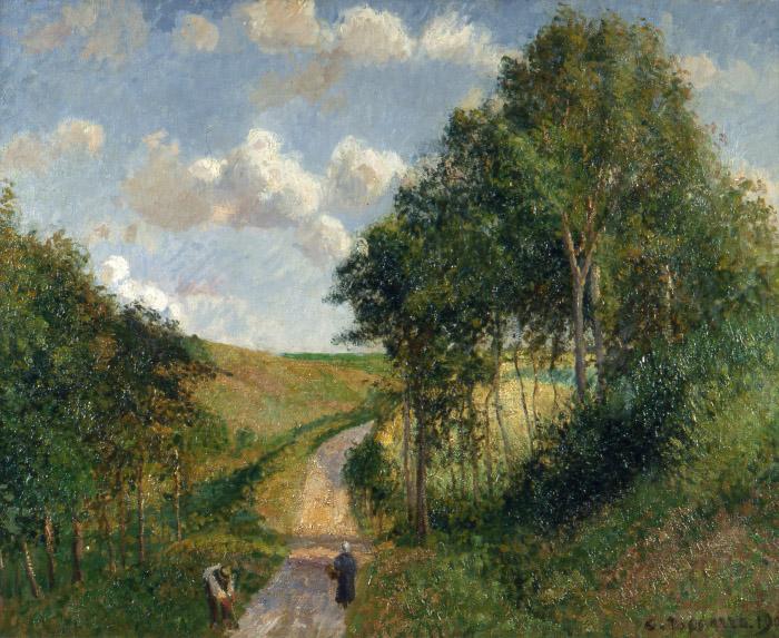 Camille Pissarro Paysage à Berneval, 1900 olio su tela 65 x 81 cm National Museum of Belgrado