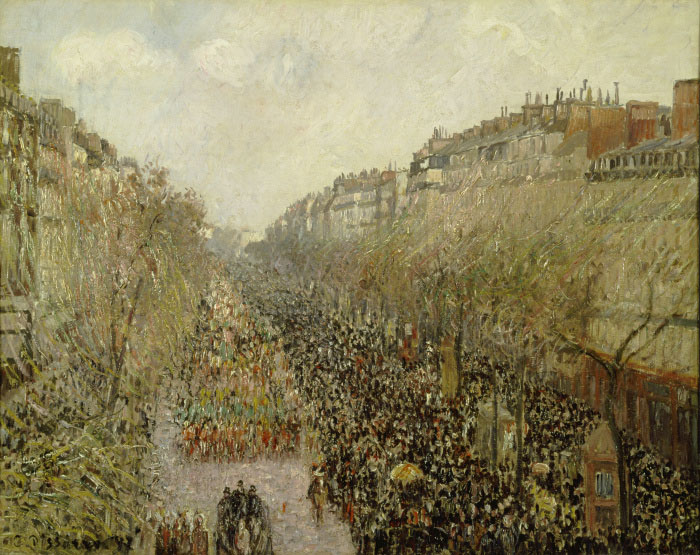 Camille Pissarro Boulevard Montmartre: Mardi Gras, 1897 olio su tela 63 x 80 cm The Armand Hammer Collection, Gift of the Armand Hammer Foundation. Hammer Museum, Los Angeles.