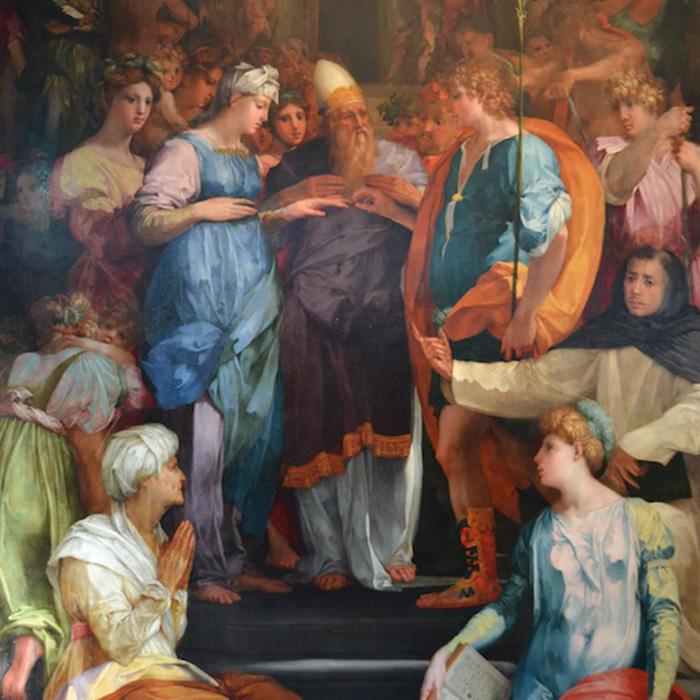 Sposalizio della Vergine, Rosso Fiorentino