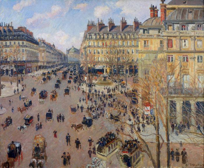 Camille Pissarro Place du Theatre Francais, 1898 olio su tela 73 x 92 cm National Museum of Belgrade