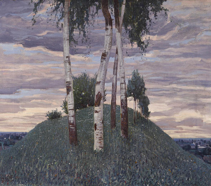 Teodoro Wolf Ferrari: Betulle, 1913. Olio su tela