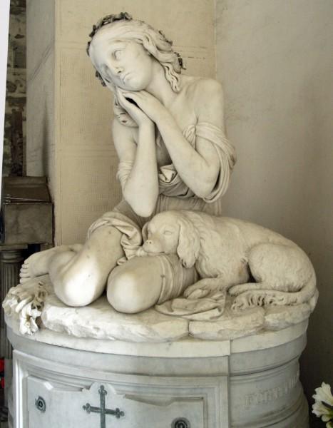 SANTO VARNI (1807-1885), Tomba di Giuditta Varni, 1875, Genova, Cimitero di Staglieno, Porticato superiore a levante