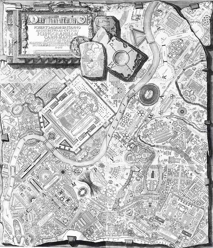 Giovanni Battista Piranesi, Ichnographiam Campi Martii antiquae Vrbis,1762