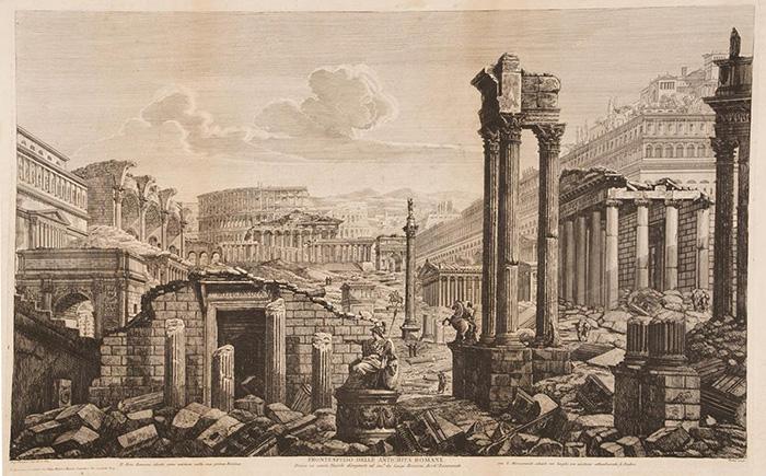 Luigi Rossini, Il Foro Romano ideato come esisteva nella sua prima Rovina con li Monumenti situati nei luoghi ove esistono attualmente li Ruderi, 1823.