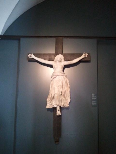 Giovanni Carra (o bottega di)- Santa Giulia crocifissa, marmo di Carrara, metà XVII secolo, Brescia. Santa Giulia.
