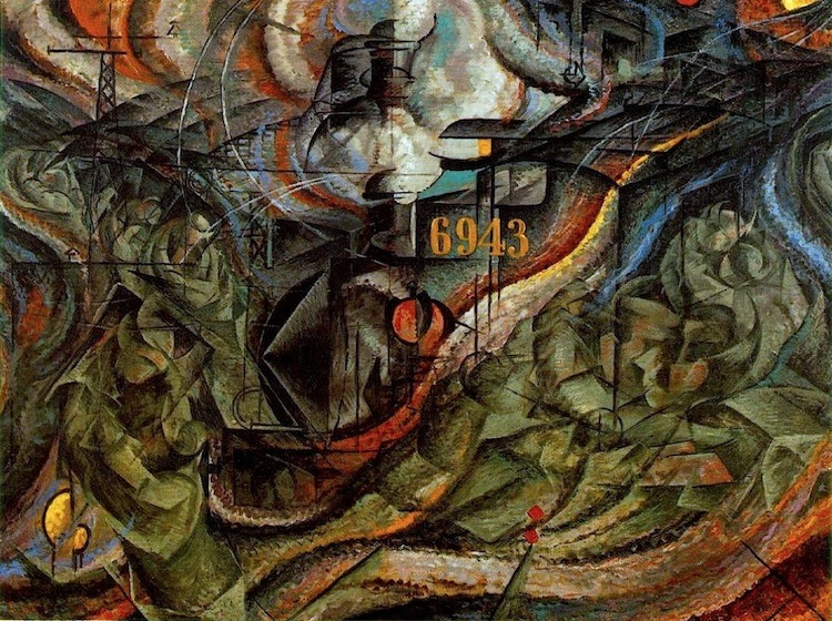 Umberto Boccioni, Stati d'animo, Gli addii (seconda versione), 1911