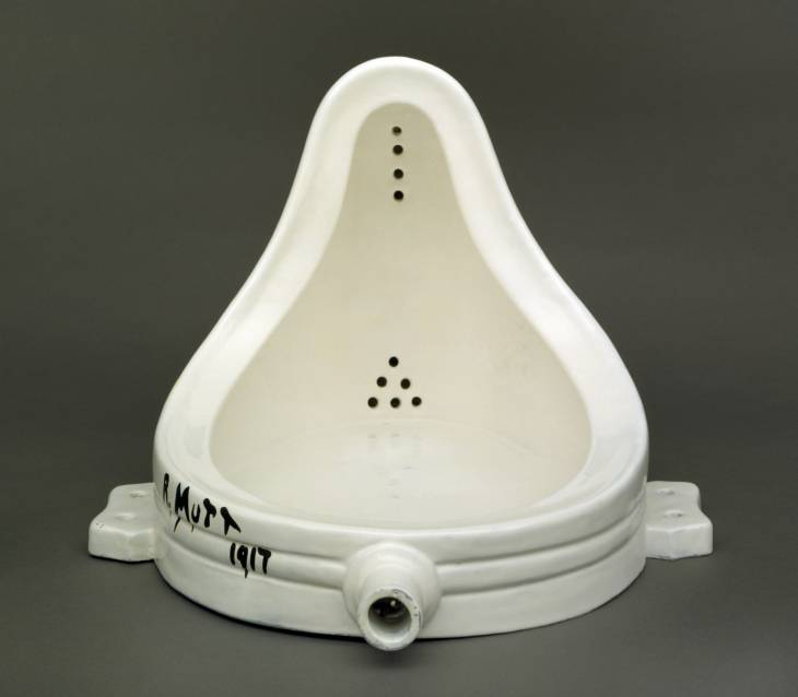 Fountain 1917, replica 1964 by Marcel Duchamp 1887-1968