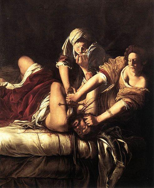 Artemisia Gentileschi, Giuditta decapita Oloferne, 1620 ca,,olio su tela, 199 × 162 cm, Firenze, Galleria degli Uffizi
